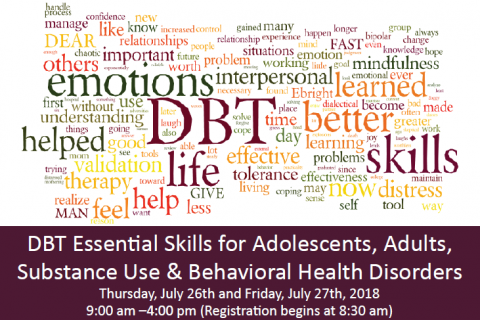 DBT Essential Skills for Adolescents, Adults, Substance Use & Behavioral Health Disorders