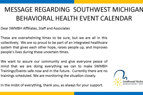 SWMBH Training & Event Info. for COVID-19