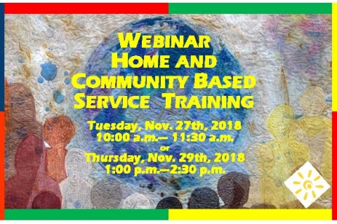 Webinar: Home and Community Based Training