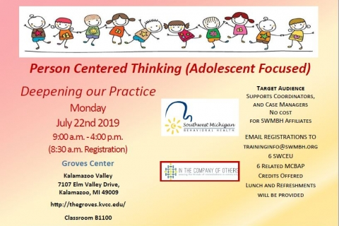 Person Centered Thinking (Adolescent Focused)